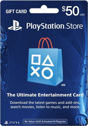 (PS4/PS3/PSV/PSP)PLAYSTATION STORE GIFT CARD $50(北米版)